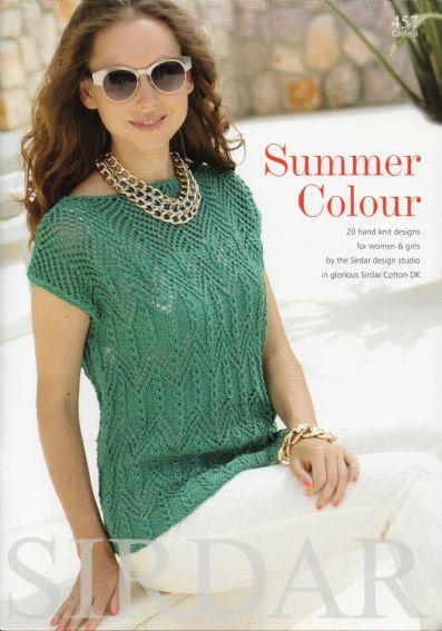 Sirdar Cotton Dk Summer Colour Knitting Pattern Booklet 20 Designs